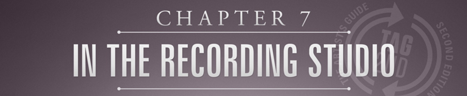 In the recording studio is chapter 7 from the artists guide to success.